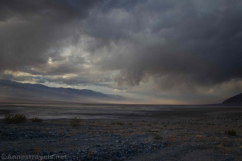 The storm over Death Valley from the Sidewinder Canyon Trail, Death Valley National Park, California