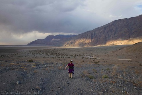 Hiking back down toward the Sidewinder Canyon parking area, Death Valley National Park, California