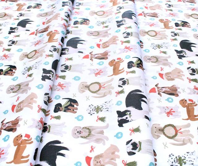 Paintbrush Studio Fabrics Happy Howlidays 120-21832 Doggie Christmas