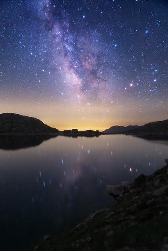 Reflex de la Vía Láctia al llac Colomina