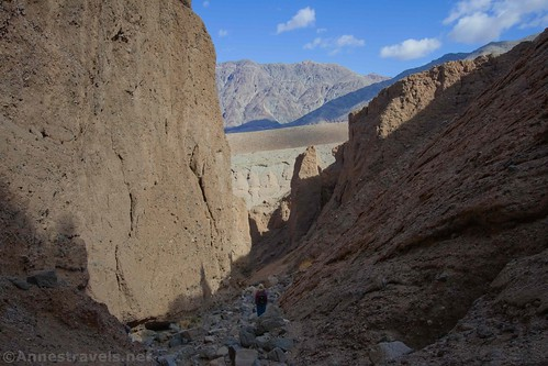Views from Slot 4b off of Sidewinder Canyon, Death Valley National Park, California