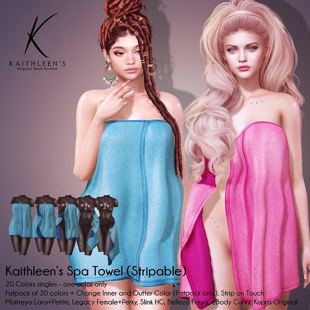 Kaithleen's Strip Spa Towel @ UBER