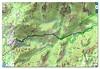 Carte IGN de l'Osu avec la trace aller - retour (carte Olivier Hespel)