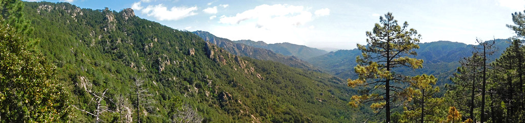 Vers le sommet du sentier : la vallée vers l'aval (photo Olivier Hespel)