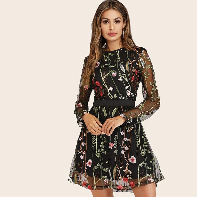 Breathtaking one shoulder split pointelle knit dress