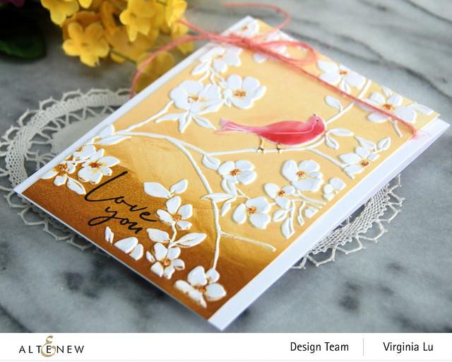 Altenew-BlossomingBranches 3D Embossing Folder-Rose Tea Stamp Set-001