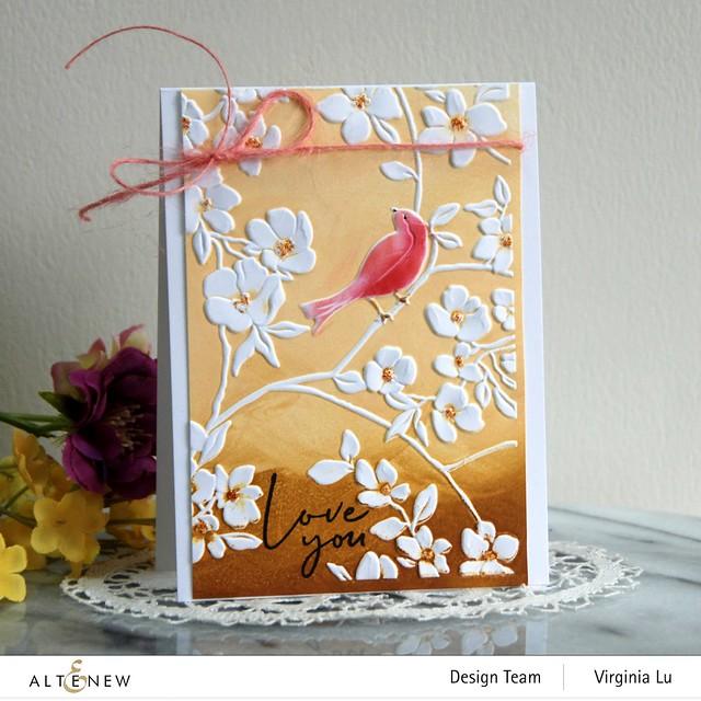 Altenew-BlossomingBranches 3D Embossing Folder-Rose Tea Stamp Set