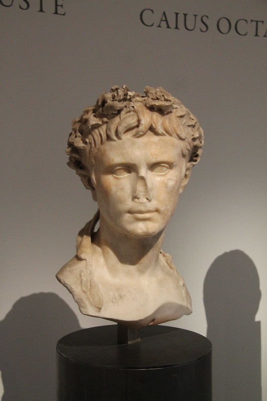 Bust of Augustus with Oak Wreath