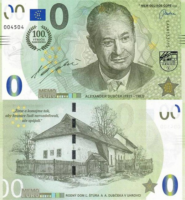 0 euro 2021 Alexander Dubček UNC