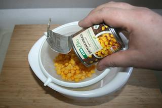 06 - Drain corn / Mais abtropfen lassen