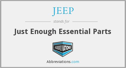 80 años del JEEP (Just Enough Essential Parts)
