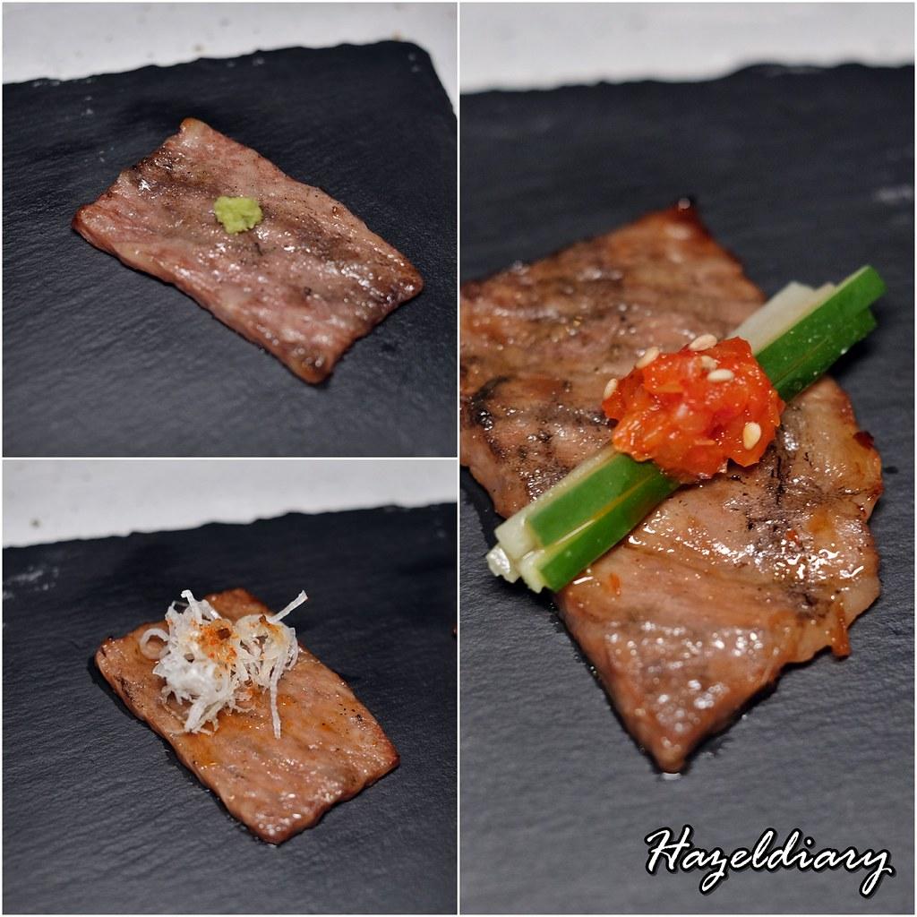 Wagyu Jin Omakase Les Amis Group- Yakiniku A5 Mizayaki Beef