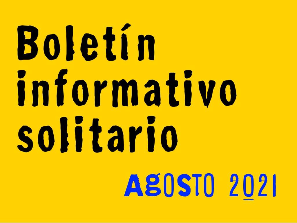 Boletín Informativo Solitario: agosto 2021