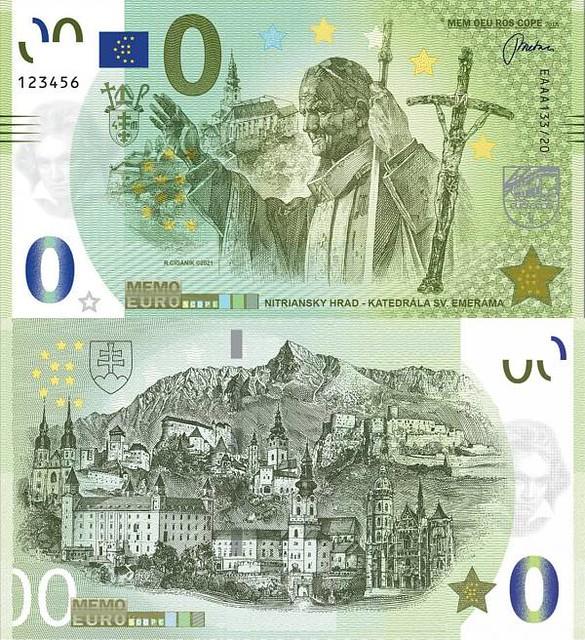 0 euro 2021 Nitriansky hrad - Ján Pavol II.