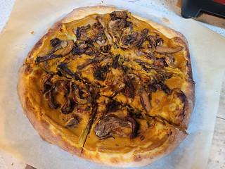 Butternut, Caramelised Onion, & Porcini Mushroom Pizza