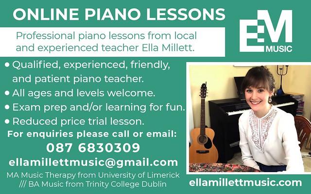 Ella Millett online piano ad large version