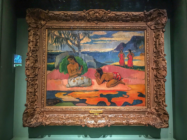 A scene from the Dominique by Gauguin