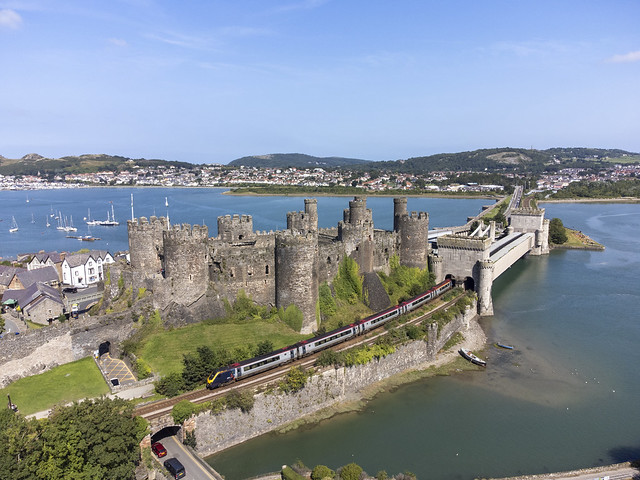 AWC passing Conwy castle