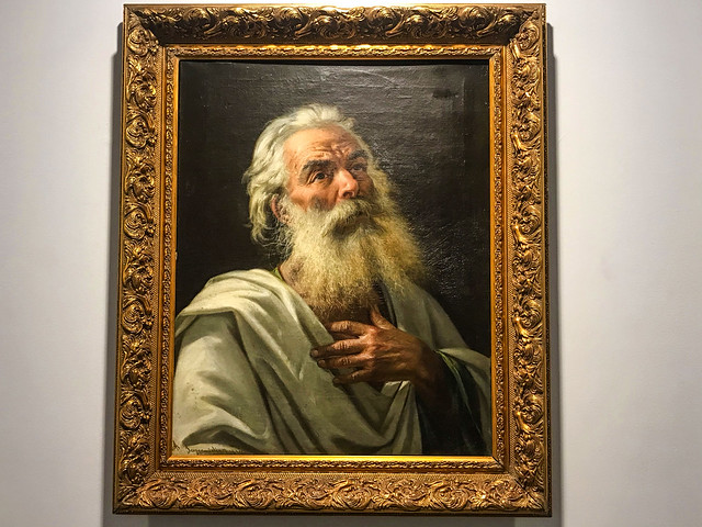 A portrait of an old man by Scognamiglio