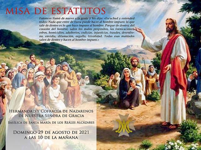 Misa de Estatutos agosto 2021