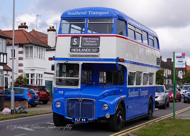 Immaculate Southend Transport AEC Routemaster 122, VLT 44 back in Leigh-on-Sea last seen here in 1993, with thanks to Stuart Miles