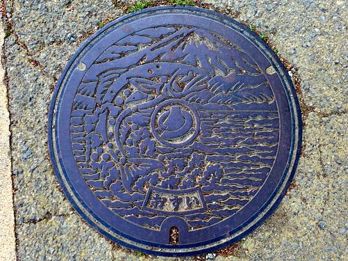 Fujikawaguchiko Yamanashi, manhole cover (山梨県富士河口湖町のマンホール)