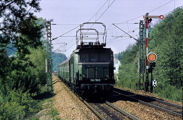 DB 144 018 Kleinsteinbach 22.04.1981