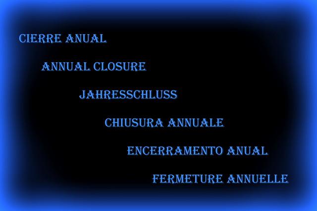 Fermeture annuelle 1