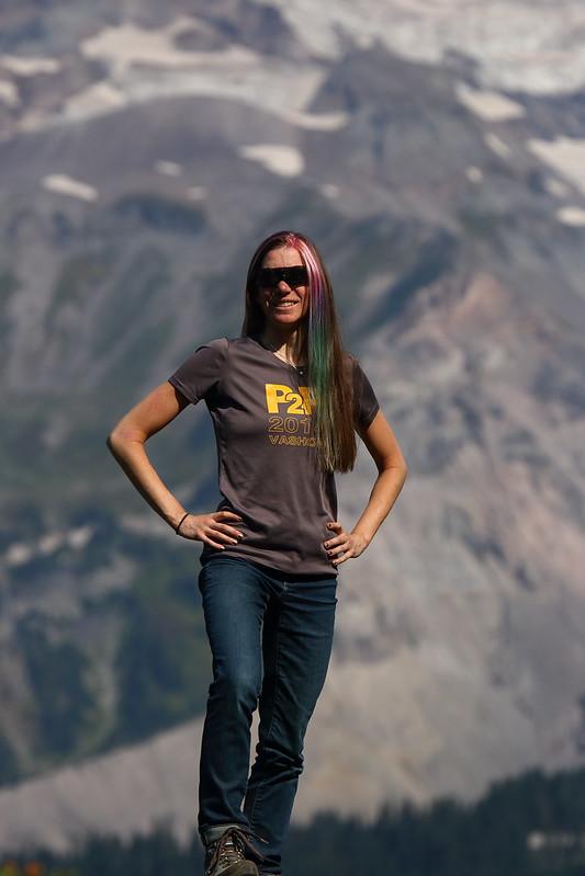 Katie at Mt Rainier