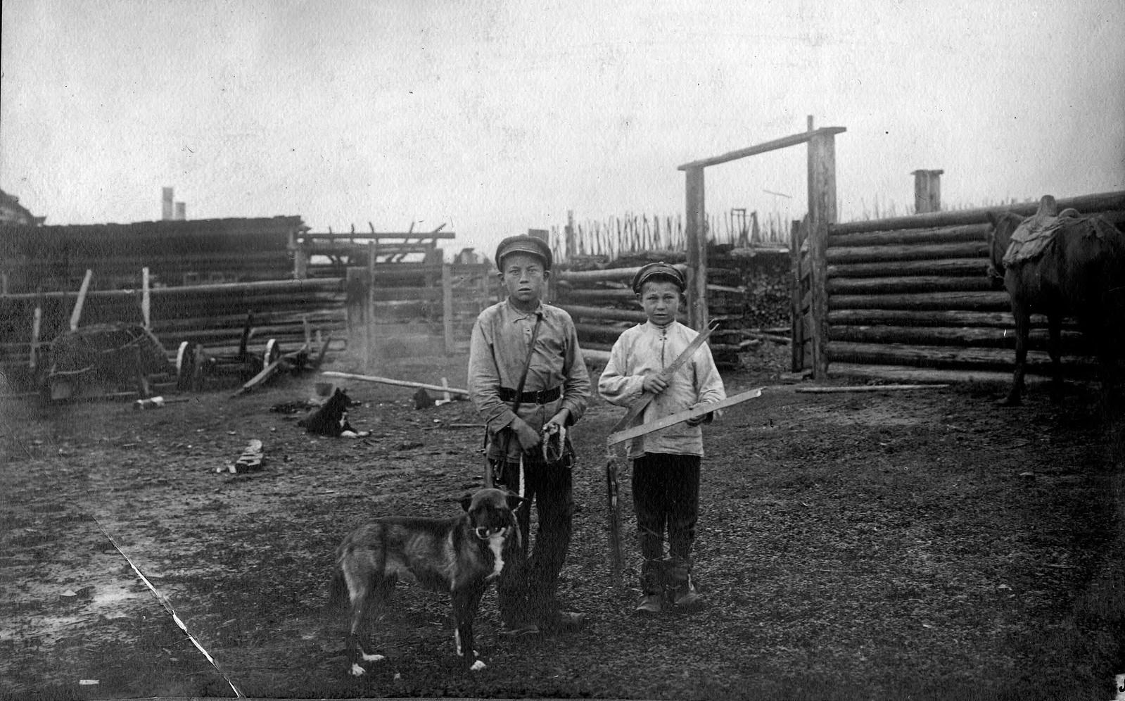 Начинающие охотники и тип собак деревни Веткинки Качугского района.
