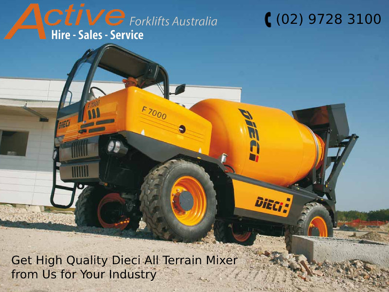 Get High Quality Dieci All Terrain Mixer from Us for Your Industry
