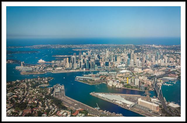 Flying into Sydney