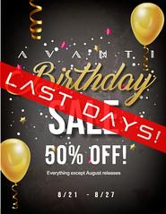 Birthday Sale - FINAL DAYS!