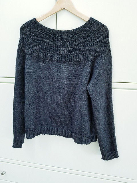 Felizitas2011 on Ravelry knit her Anker's Sweater with Garnstudio Drops Alpaca held double with Drops Kid Silk
