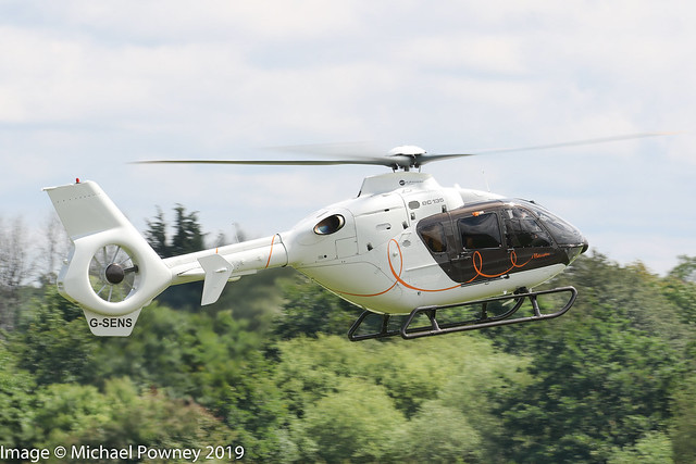 G-SENS - 2009 build Eurocopter EC135 T2+, inbound to Barton