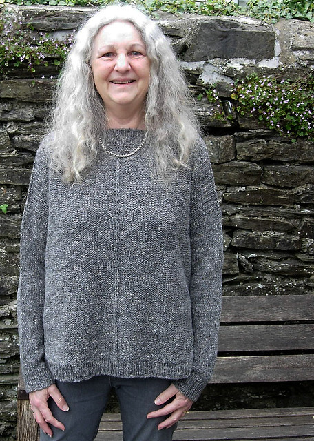 kathysknittingtoo knit The Weekender sample for The Fibre Co. in Arranmore Light