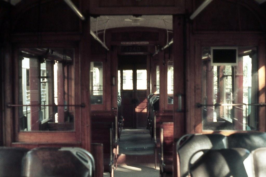 Interior R 1740, Sydney Tramway Museum, Loftus, NSW.