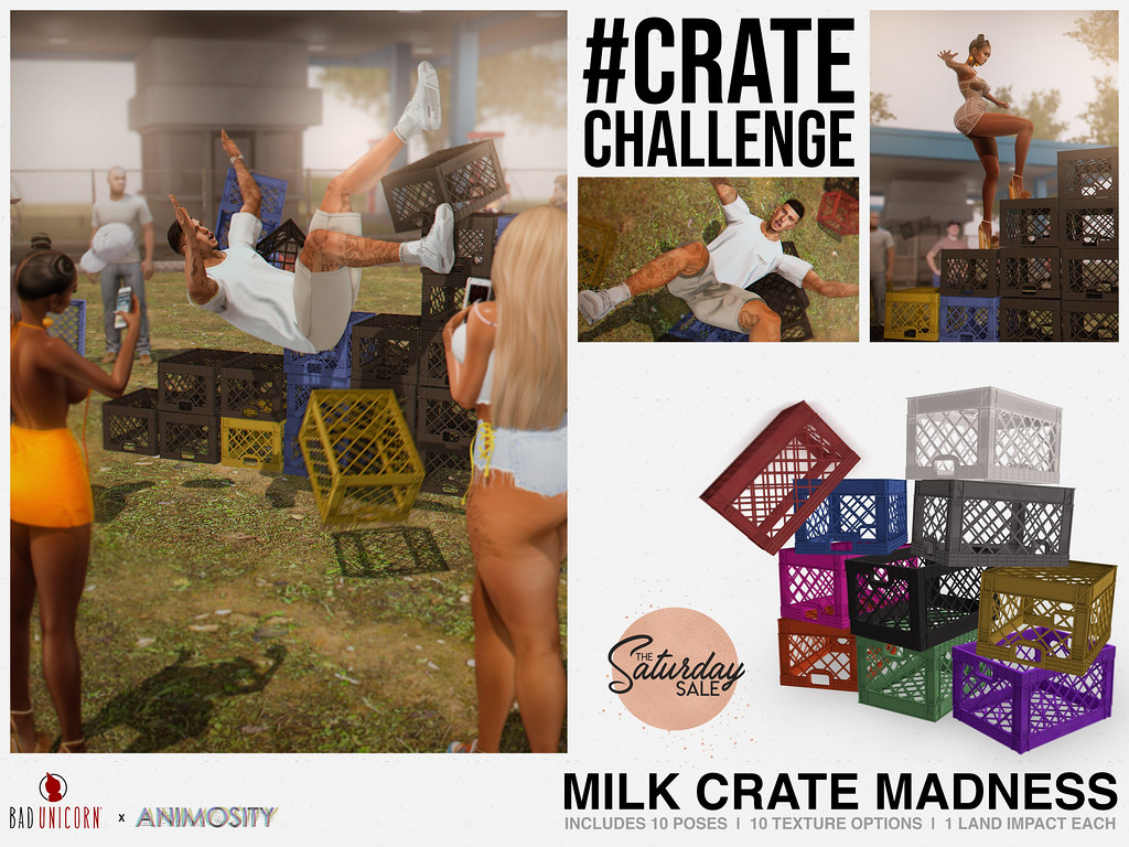 NEW! Milk Crate Madness @ Bad Unicorn Mainstore