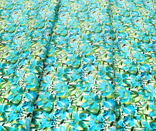 Windham Fabrics Alfie 52296D-2 Summer Roses Teal