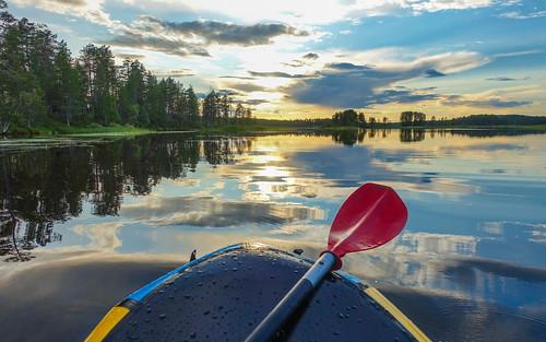 Finland 2021-08-11: Packrafting Juumajärvi