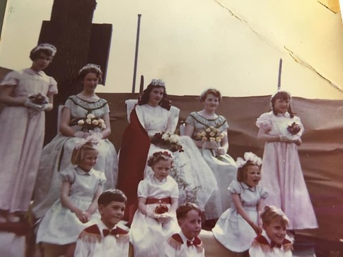 West Heath May Queen and entourage c1956