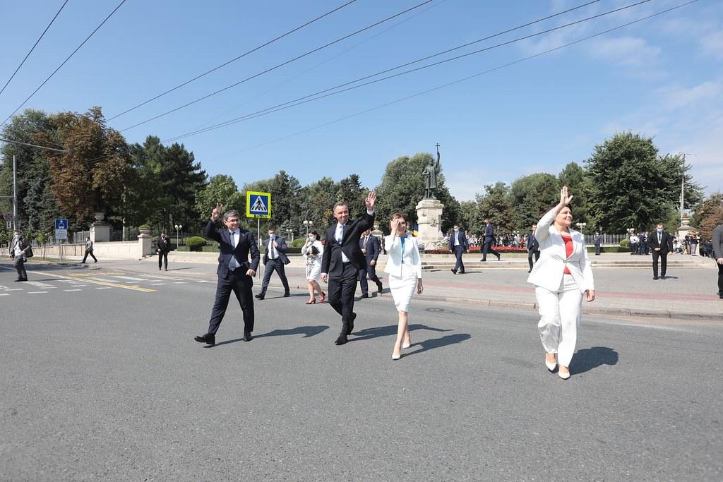 """27.08.2021 30 de ani ai independenței: Inaugurarea oficială a sărbătorii """"Ziua Independenței Republicii Moldova"""" și Parada Militară"""