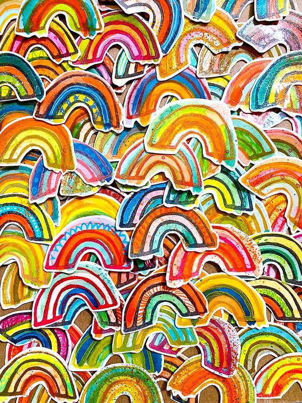 Rainbow stickers