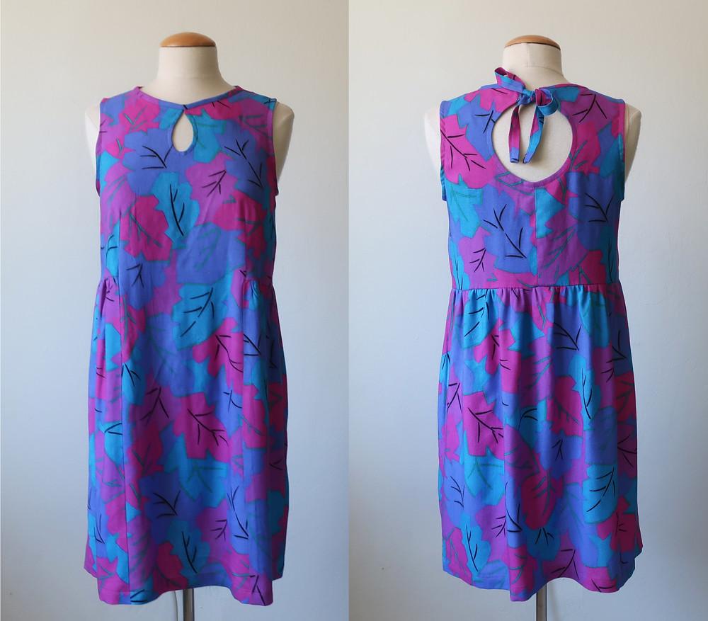 pink blue nap dress 1
