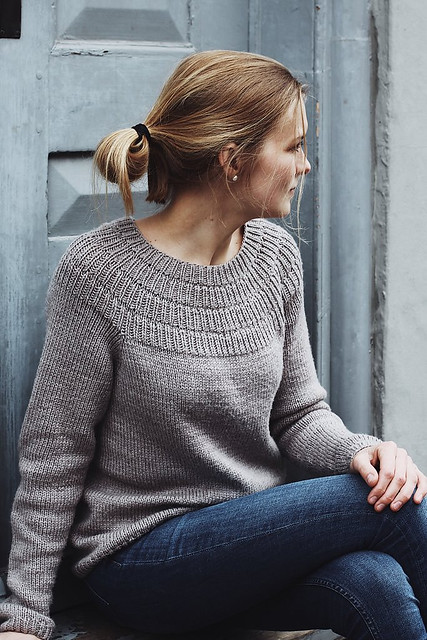 Anker's Sweater - My Size by PetiteKnit is similar to her summer Anker's Summer Shirt and Anker Tee but with long sleeves.