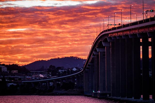 Sunrise #3, Tasman Bridge, Queens Domain, Hobart