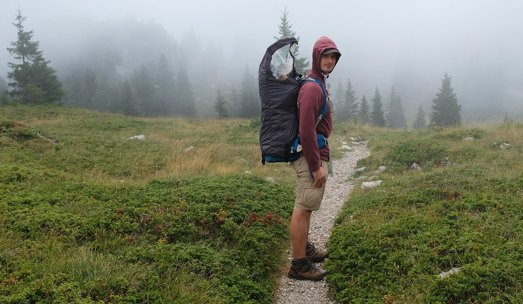 Carrier backpack with rain cover - Northern Velebit National Park, Croatia