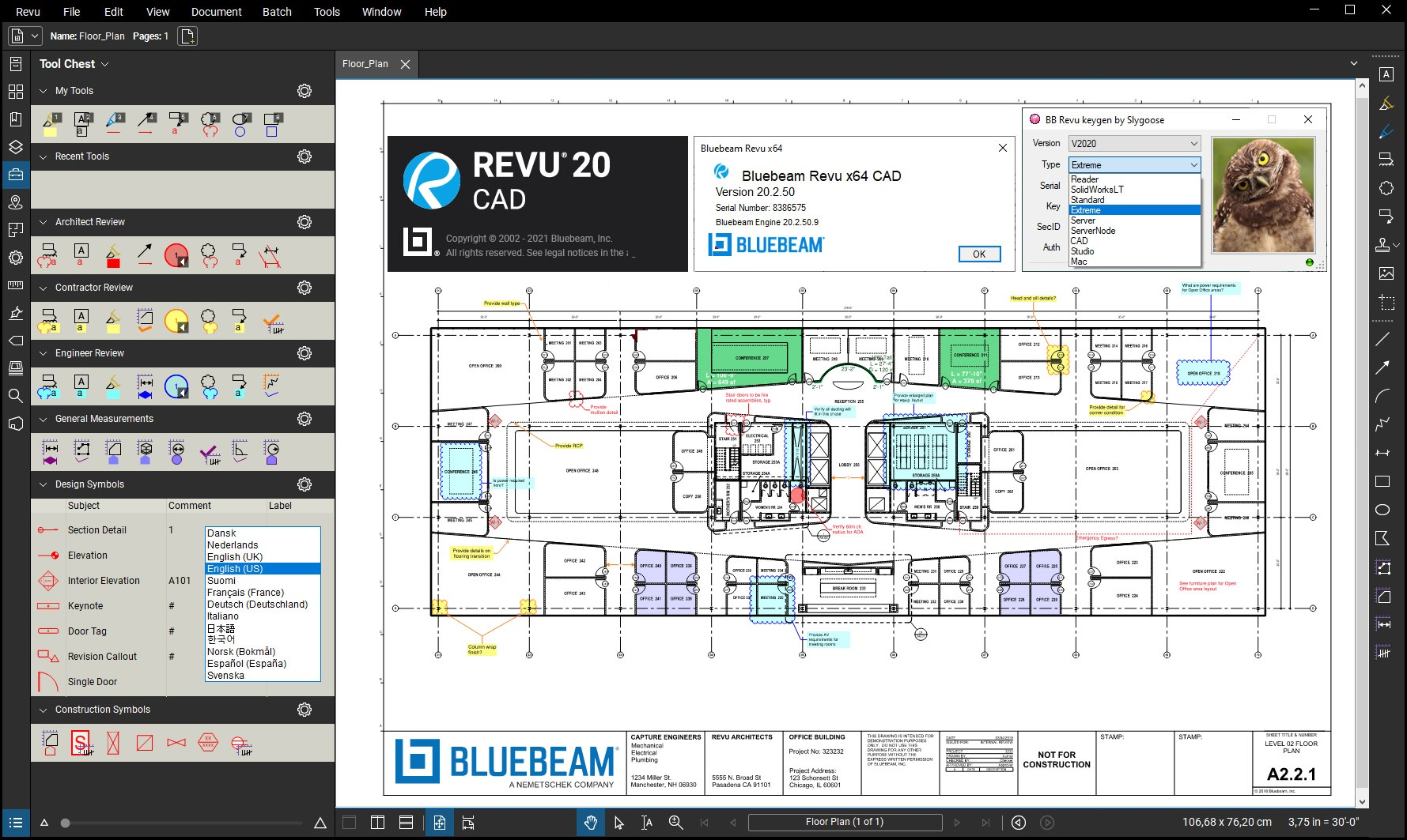 Working with BlueBeam Revu Extreme v20.2.50 full