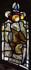 Angel and St John's Eagle (fragments, composite, 15th Century)