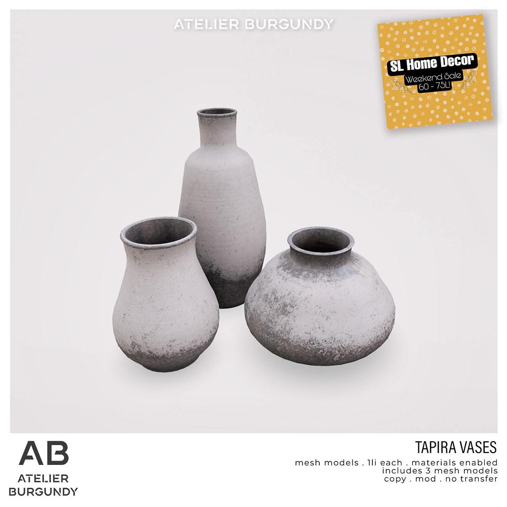 Atelier Burgundy . Tapira Vases HG
